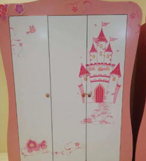 Twin beautiful pink girl kid's cupboards