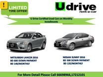 U Drive Certified Used cars on Monthly Installments Without Bank