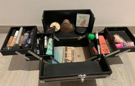 Vanity case with all makeup