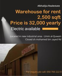 Warehouse for rent LOW RENT