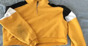 Yellow Cropped Jumper Large