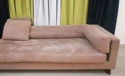 brown soft suede sofa