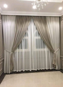Designing of curtains and sofa