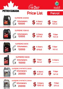 Petro Canada for oil and greases7