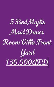 5 غرف نوم مجلس غرفة سائق فيلا في الشمخة 150000AED...