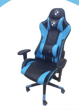 office chair blue and black color