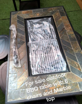 outdoor BBQ table