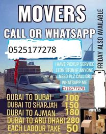 pickup for rent  1 ton and 3 ton in dubai