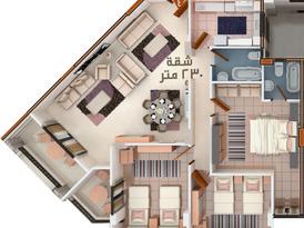 شقة 230 م ناصية بانوراما بخصم للكاش او بتسهيلات