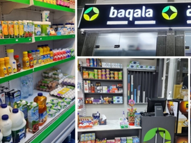 A new fully equipped grocery store