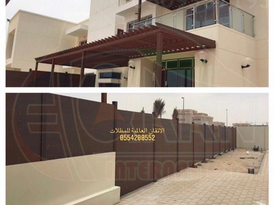 WPC plastic wood canopies, rafters and pergolas 3