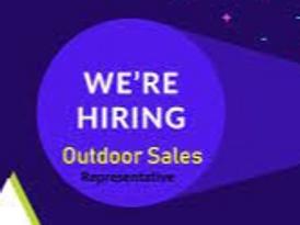 We are hiring outdoor sales Representative