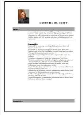 مدير مالي متميز خبرة دولية فوق 30 عاما في الفنادق ٥ نجوم 9