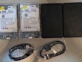 للبيع هاردسكات جدد WD 320GB يصلحون لنقل الملفات