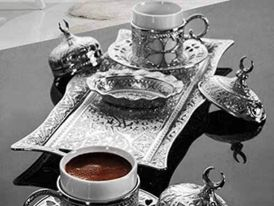 Turkish Ottoman coffee cup set for two new 15