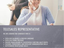 Telesales executive is required