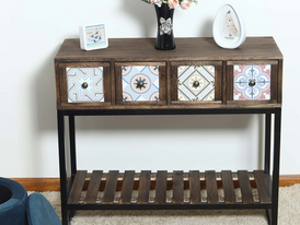 4 Drawers Siramika Design Console Table 15