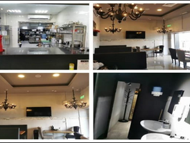 Fully ready restaurant with the latest equipment and decorations on Airport Road on Main Street
