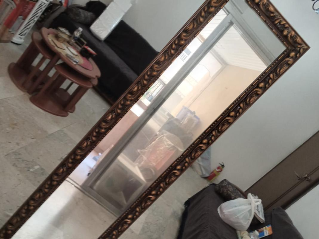 مرآة المصمم القائمة بذاتها مصنوعة من أفضل الخشب القوي والزجاج 8