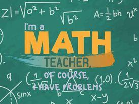 Palestinian math teacher