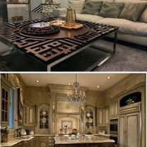 Decoration and interior design contracts, modern and classic decorations0