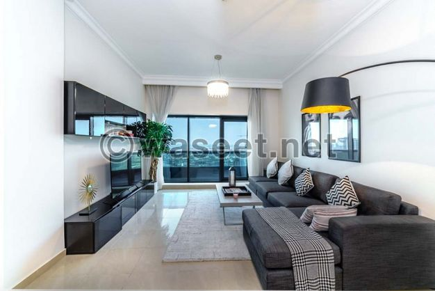شقة غرفة وصالة جاهزة في عجمان
