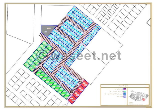 أراضي سكنية بالياسمين 2970 قدم للبيع بسعر هو الأقل