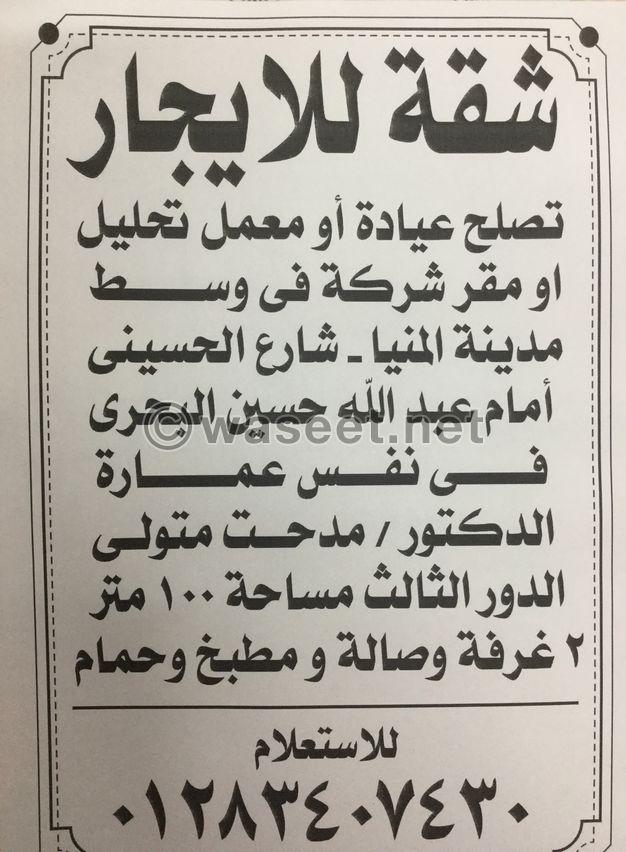 شقه للايجار بشارع الحسيني وسط البلد