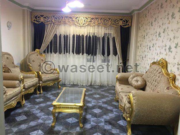شقة مفروشة 140م2  للايجار بالمنيا حي شلبي مطله على ميدان اداب