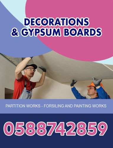 Implementation of gypsum board decorations