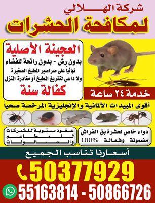 شركة الهلالي لمكافحة الحشرات