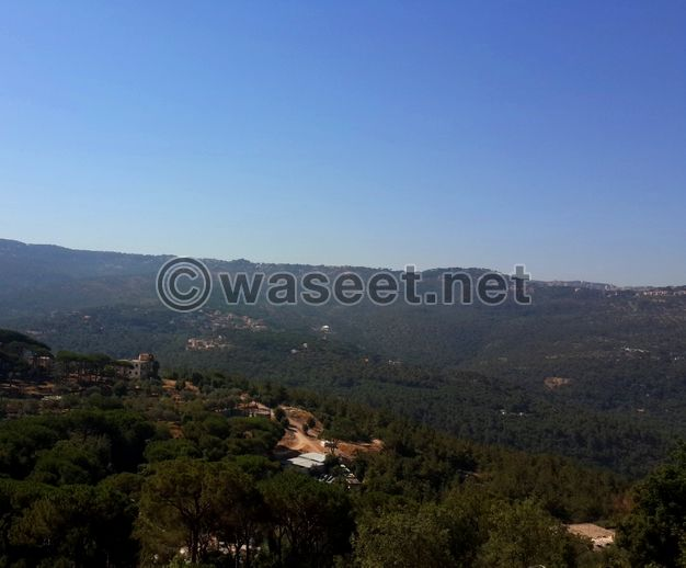 Land with mountain view for sale in Broumana 880m