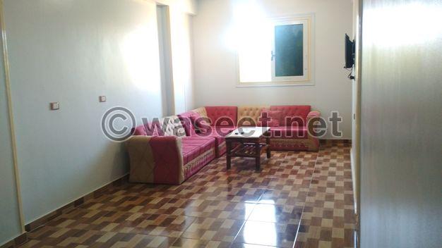 شقة مفروشه للإيجار بمدينة العلمين بالقرب من مارينا بوابة 5