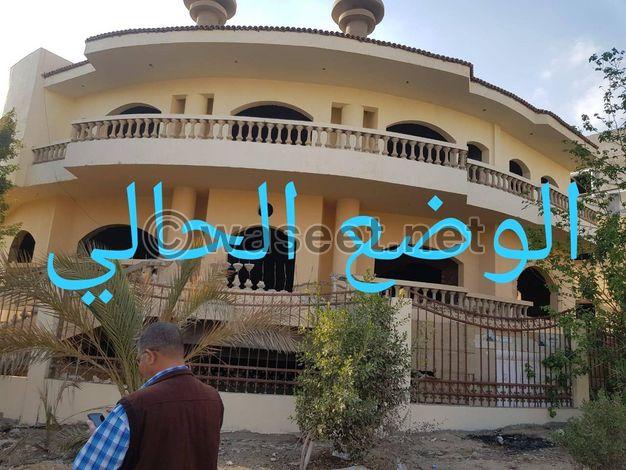 شقه دوبلكس للبيع كاش و بالتقسيط 220م بالحى السادس فيلات بمدينة العبور