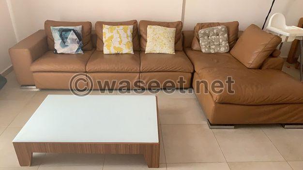 Sofa original leather 3 pieces