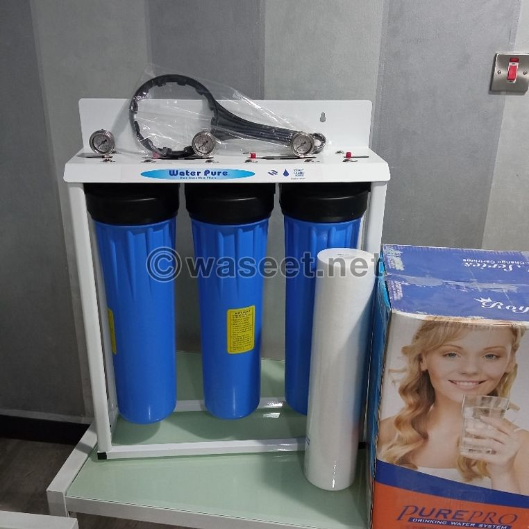 the 3 Stages Big Blue or Jumbo Water filter 1