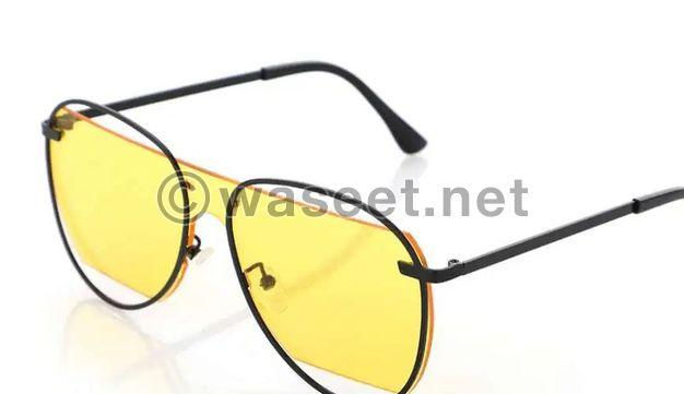unisex yellow sunglasses