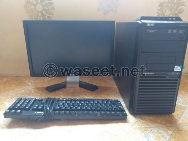 urgent sale computer pc full complete set windows 7