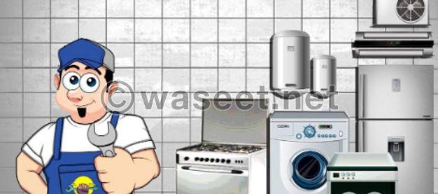 washing machine refrigeration and dryer reparing