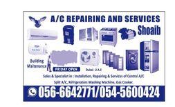 we do service and repairing of A/C fridge washing machine 05...