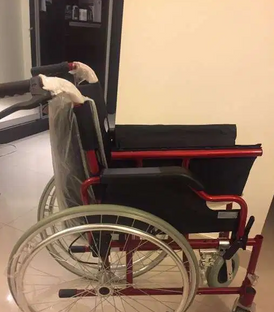 wheel chair and crutch