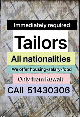 wanted tailors urgently